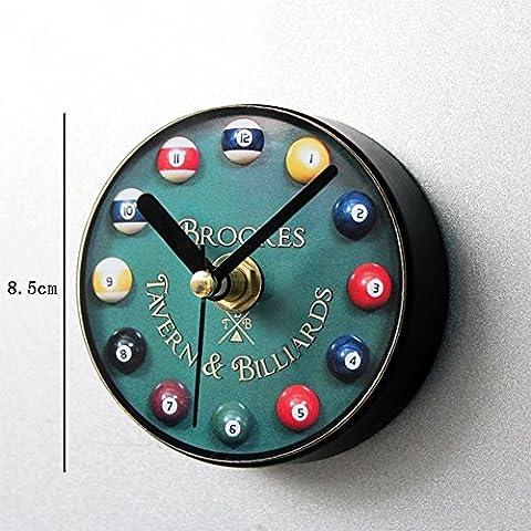 Flashing- European Style Mini Kunststoff Wanduhr / Kühlschrank Aufkleber, Wohnzimmer Schlafzimmer Restaurant Wand Anhänger ( größe : Diameter 8.5cm (8,5 Aufkleber)