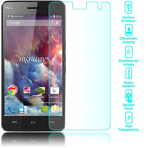 Image of delightable24 Premium Tempered Glass Screen Protector WIKO HIGHWAY 4G Smartphone - Crystal Clear