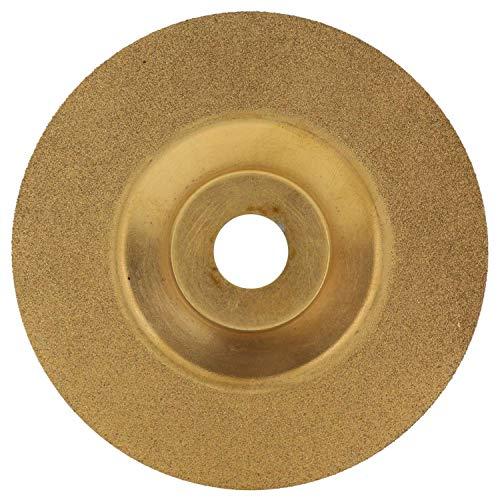 SODIAL 100mm Gold Diamant Titanium Schleif Scheibe Sah Kreis F?rmige Trenn Scheibe Fr?ser Sch?rfer Winkel Schleifer Zubeh?r