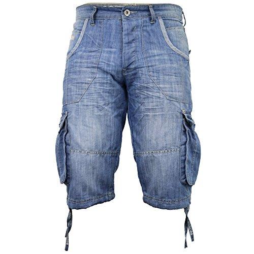 Mens Crosshatch Kanaster Denim Multipocket Cargo Designer Shorts