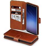 Samsung S9 Plus Hülle, Terrapin [ECHT LEDER] Brieftasche Case Hülle mit Standfunktion Kartenfächer und Bargeld für Samsung Galaxy S9 Plus Tasche - Cognac