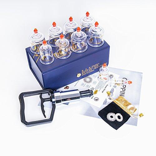 Hansol Schröpfen Schröpfset Cupping Set 10 PCS Schröpfen Gläser M010 Vakuum Massage