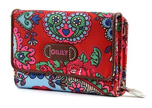 Oilily S Wallet Geldbörse Portemonnaie Geldbeutel Travel Rot - Breite 14 cm, Höhe 9,5 cm, Tiefe 3,5 cm