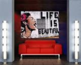 BANKSY LIFE IS BEAUTIFUL GIANT XXL POSTER PLAKAT DRUCK ART PRINT MR489