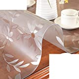 XKQWAN Verdicken sie Glas Wasserdicht Burn-proof ?l-beweis Einweg-tischdecken Transparent Matte tisch couchtisch matte-C 80x120cm(31x47inch)