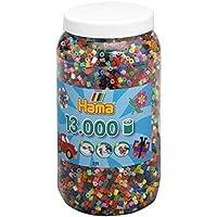 Hama Bügelperlen Perlendose 50 Farben, Mix 68 Basteln