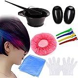 Bluelover 7St Diy Haarfärbemitteln Färbung Werkzeuge Haare Färben Kit Mix Bowl Friseur Bürste Kamm Abschnitt Clips Set