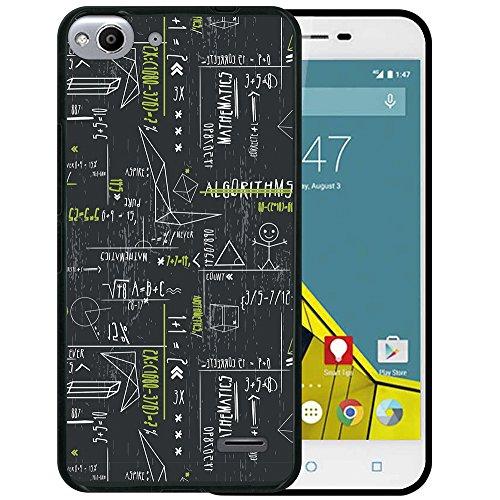 WoowCase Vodafone Smart Ultra 6 Hülle, Handyhülle Silikon für [ Vodafone Smart Ultra 6 ] Grüne mathematische Formeln Handytasche Handy Cover Case Schutzhülle Flexible TPU - Schwarz