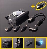 Le stockage mobile d'énérgie, USB Chargeur de réserve pour les telephones et les piles rechargeables AA (iPhone5 fiche)