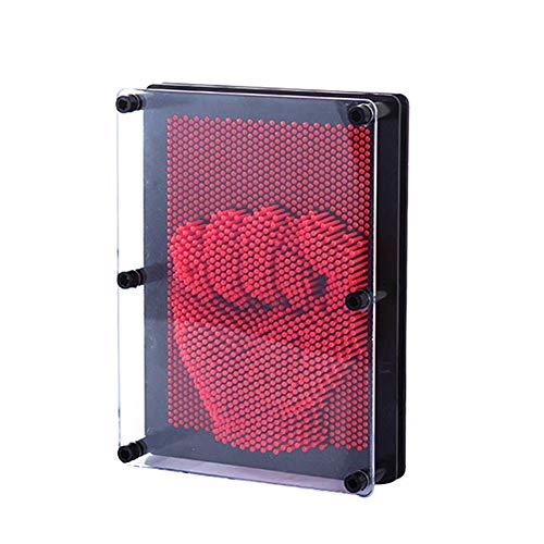 Dastrues 3D Clone Shape Pin Art Toy Sculpture Kreative Changehold Pinscreen Form Nadel für Kinder Erwachsene Rot