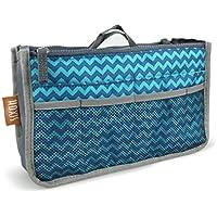 Hoxis Nylon Purse Perfector organizzata 13 tasche Comestic Gadget-Organizzatore espandibile, con manici 26,92 cm X (10,6 16,00 (6,3 Bag in Bag cm