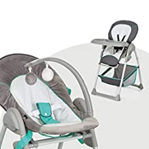 Hauck Sit N Relax, 3 in 1 Grow-Along Highchair, 0M+ to 15 kg - Silver Hearts