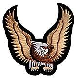 Adler Eagle Backpatch Rückenaufnäher Biker Weste Kleidung Kutte ca. 24 x 24 cm