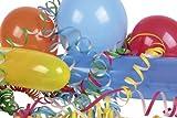 Riethmüller 6403 - Dekoset mit 25 Luftballons und 2 Rollen Luftschlangen