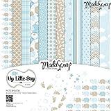 Elizabeth Craft Designs My Little Boy papel, diseño multicolor, 30,5x 30,5cm