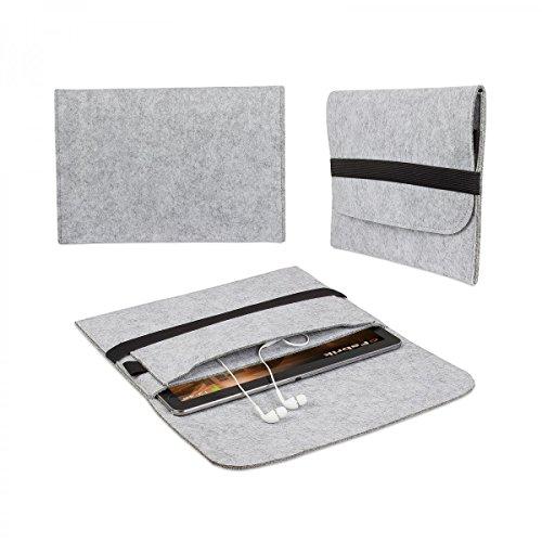 eFabrik ROYALZ Schutzhülle für Lenovo ThinkPad X1 Tablet Tasche (Gen 2 12 Zoll und Gen 3 13 Zoll) Sleeve Cover Filz, Farbe:Grau