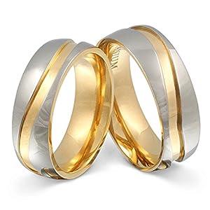 Juwelier Schönschmied – Zwei Titanringe Partnerringe Hochzeitsringe Titan inkl. persönliche Lasergravur LANrT11HH – Almada