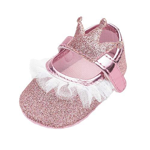 MCYs Baby Mädchen Blume Bling Krone Spitze zufälliger Schuhe Mode Kleinkind Wanderer Schuhe Lauflernschuhe Krabbelschuhe Babyhausschuhe (Blume Kronen)