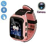 1.44 '' Touch Smart Watch Bambini Tefelono Orologio Intelligente con SIM Card Slot,Anti-Perso Localizzatore SOS Call Finder Kids Smart Bracciale con Torcia Elettrica Per iOS Android,M05 (Rosa)