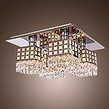 Unimall 4368752 Kronleuchter modernes Stil Kristall-Deckenleuchte elegante Deckenlampe für Wohnzimmer Schlafzimmer Esszimmer