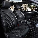 Autositzbezüge,Universal Leder Sommer Atmungsaktiv Schonbezüge Autositz,Auto Sitzbezüge Beige, Schwarz, Grau,Black