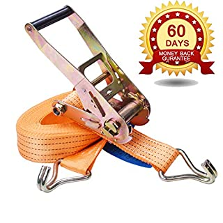 Tie Down Ratchet Straps with J-Hook 32FT × 1.7