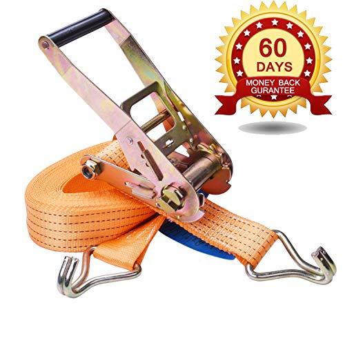 Zurrgurt Ratsche Spitzhaken, Spanngurt 4000 daN,zweiteilig,Farbe Orange, 10 m Länge, 50 mm Bandbreite