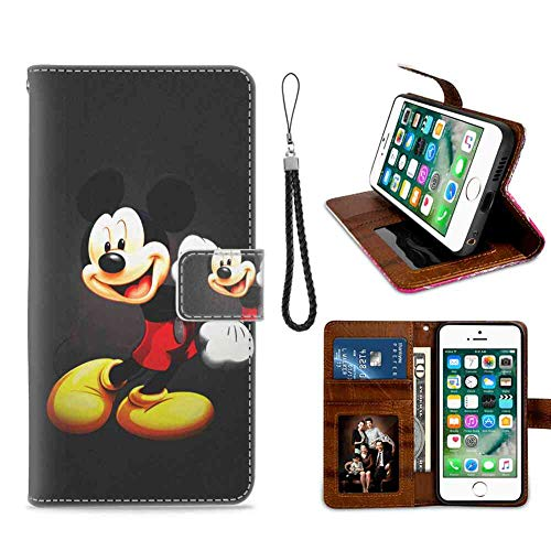 Apple iPhone 8 Case, iPhone 7 Wallet Case Mickey Mouse Kids Cartoon Disney Durable
