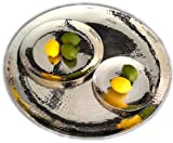 Colmore by diga gehämmertes Tablett -Teller - Metallteller (23cm)