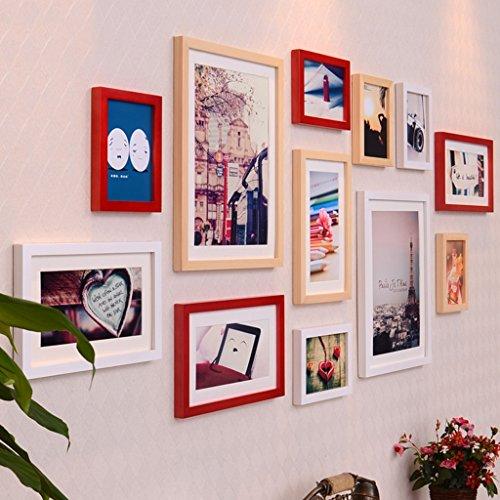 Ymxljf muro decorativo photo wall parete in stile architettonico moderno in bianco e nero parete attrezzata per foto creativa set di cornici fotografiche