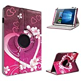 UC-Express Acer Iconia One 10 B3-A10 Tablet Hülle Tasche Schutzhülle Case Schutz Cover 360° Drehbar 10.1 Zoll Etui, Farben:Motiv 8