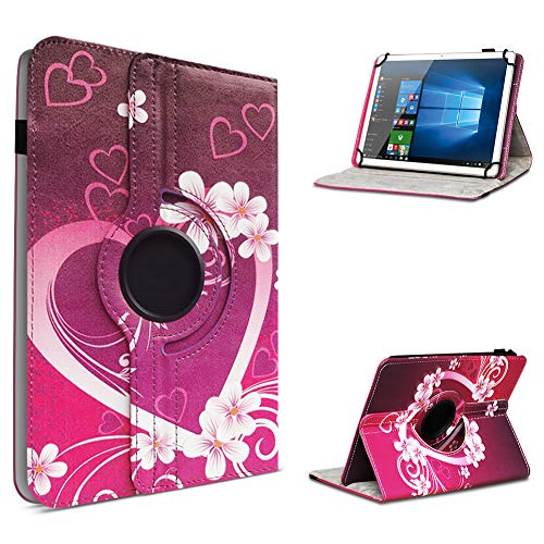 UC-Express Tablet Schutzhülle für 10-10.1 Zoll Tasche aus hochwertigem Kunstleder Standfunktion 360° Drehbar Universal Case Cover, Farben:Motiv 2, Tablet Modell für:Acepad A96