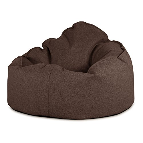 Lounge Pug, Puff pera 'Mini-Mamut', Lana de Interalli - Marrón
