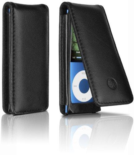 DLO Ledertasche für Apple iPod Nano 5G (aufklappbar mit Innenfächern), schwarz Apple Ipod Nano Docking Station