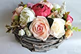 Artificial flower arrangement, rustic flower arrangement, perfect as wedding centerpiece or Mother's Day gift. FREE UK DELIVERY !