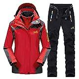 Männer Frauen Skianzüge Winter Thicken Warm halten Outdoor Bergsteigen Anzug Furnier Double Board Paar Jacken