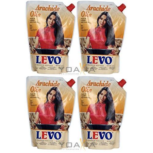 4x 750ml Levo 100 Erdnussl Arachide Olie Peanut Oil Ein Kleines Glckspppchen Holzpppchen