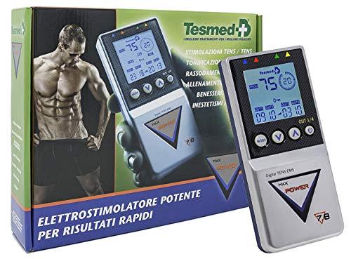 TESMED elettrostimolatore Muscolare Max 7.8 Power - 125 tipologie di trattamenti: Addominali,...