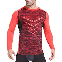 Beladla Camiseta Manga Larga Hombre Respirable CóModo Delgado para Hombre OtoñO Invierno Casual O-Neck