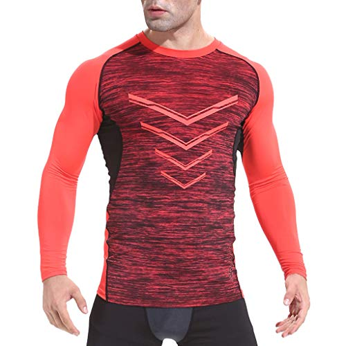 Beladla Camiseta Manga Larga Hombre Respirable CóModo Delgado para Hombre  OtoñO Invierno Casual O-Neck f54fafa3779
