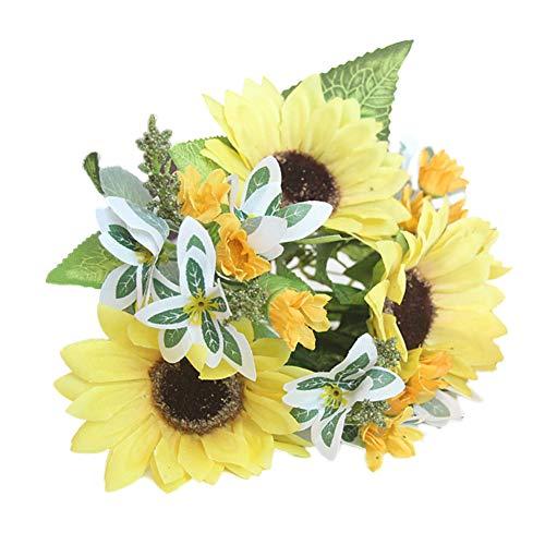 �nstliche Blume Lebensechte Sonnenblume DIY Party Home Hochzeit Muttertag Handwerk Decor EIN ()