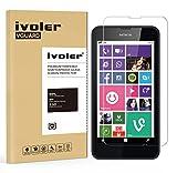 ivoler Pellicola Vetro Temperato per Nokia Lumia 630/635 [Garanzia a Vita], Pellicola Protettiva, Protezione per Schermo