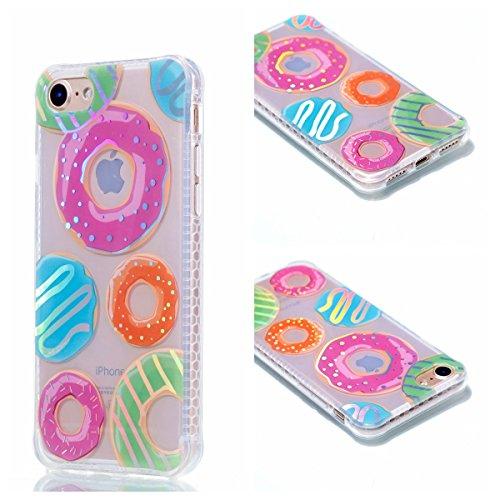 Ooboom® iPhone 8/iPhone 7 Hülle TPU Silikon Handy Tasche Prämie Luxus Case Cover Bumper Ultra Dünn für iPhone 8/iPhone 7 - Blumen Donut