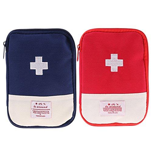 Homyl borsa da viaggio medicina borsa di pronto soccorso emergenza esterna - rosso, l
