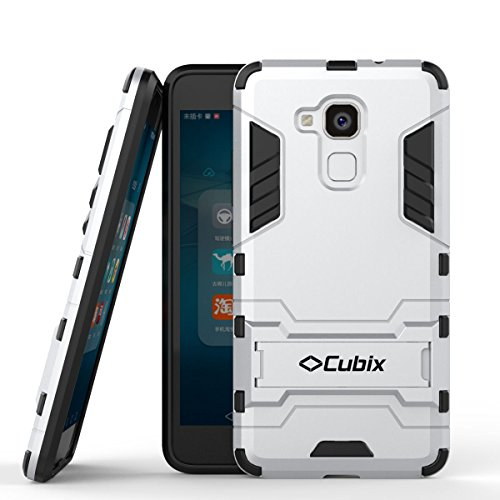 Quicksand Cubix Robot Case For Huawei Honor 5C Case Back Cover Warrior Hybrid Defender Bumper Shock Proof Case Armor Cover With Stand For Huawei Honor 5C Silver  available at amazon for Rs.398