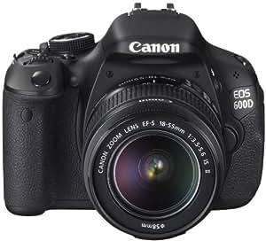 Canon 600D Appareil photo numérique Reflex 18 Mpix Kit Objectif 18-55mm IS II Noir