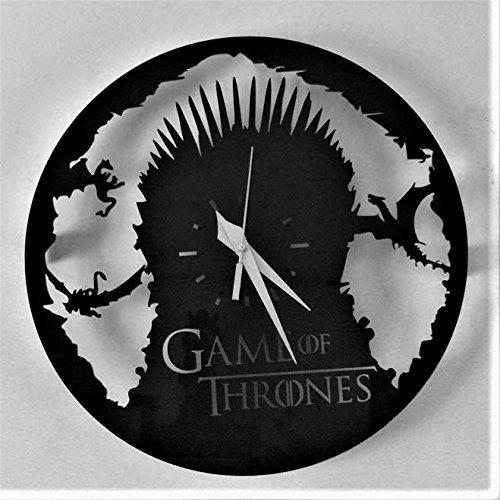 Daedal - Game Of Thrones Chair Throne Wood Quartz Wall Designer Clock Battery Powered (30 cm × 30 cm × 5 cm) DA37  available at amazon for Rs.839