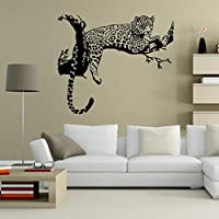 Internet Leopard Wall Stickers Living Room Bedroom Decoration Removable Poster Wallpaper