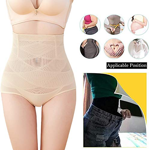 Biddtle Damen Miederslip Figurenformend Miederhose Push-Up Taillenslip Sexy Fitness Shapwear Mit Bauch-Weg-Effekt,Beige,XL - 5