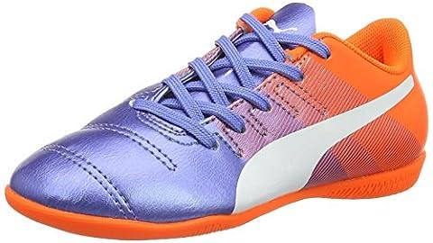 Puma Unisex-Kinder Evopower 4.3 IT Jr Fußballschuhe, Mehrfarbig (Blue Yonder White-Shocking Orange 03), 34